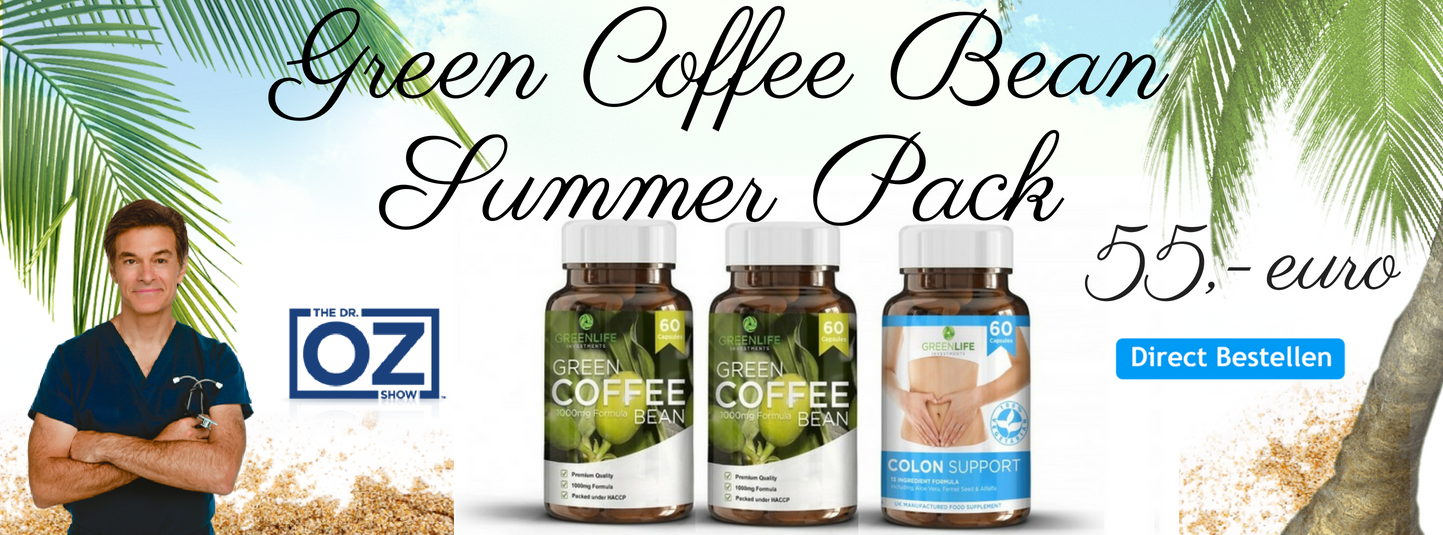 Green Coffee Bean Summer Pack